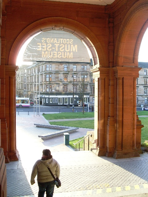 Through the arches at Kelvingrove Art Gallery