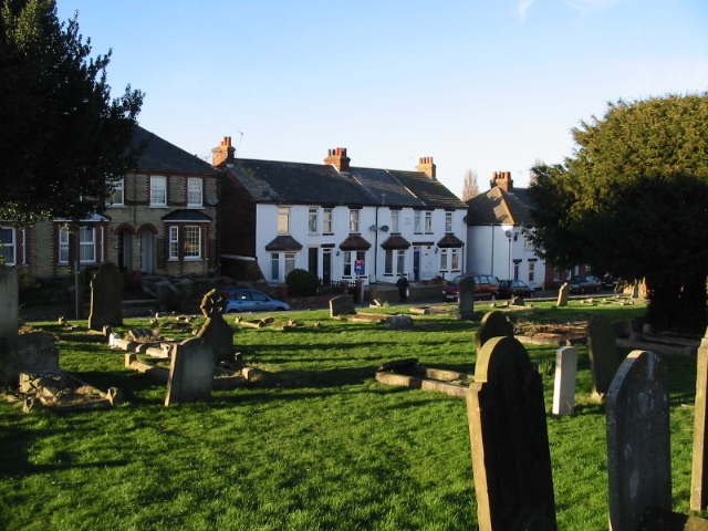 Houses on Sandwich Road from Boatman's Hill cemetery
