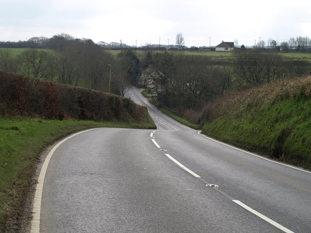 A388 south of Whimble Cross