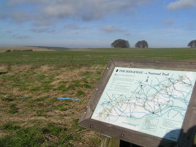 Ridgeway Path info notice