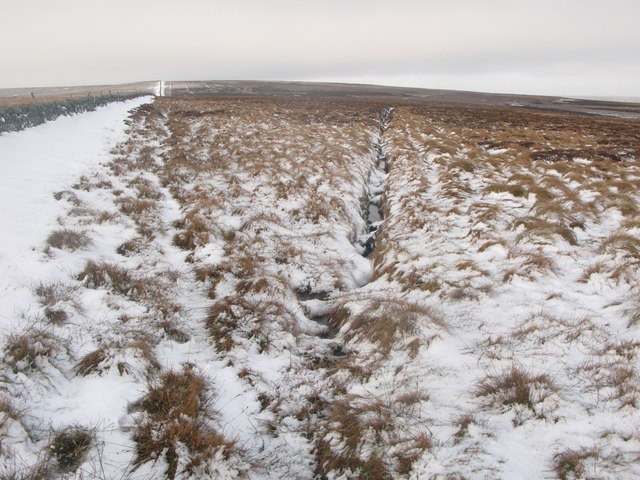 Drainage channel on White Edge