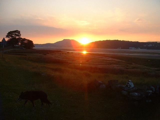 Sunset at Llechollwyn