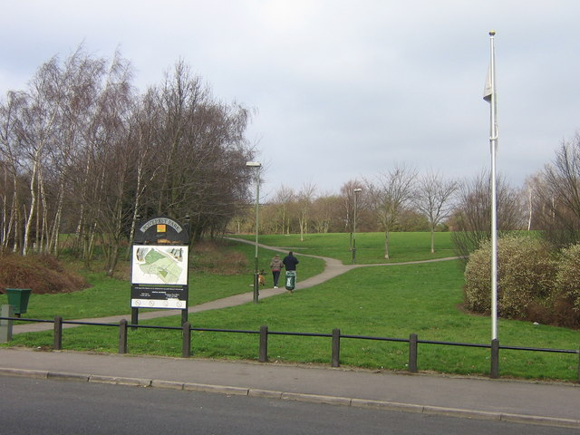 Entrance to Poverest Park from Perry Hall Road