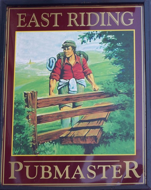 Sign for the East Riding, Sherburn