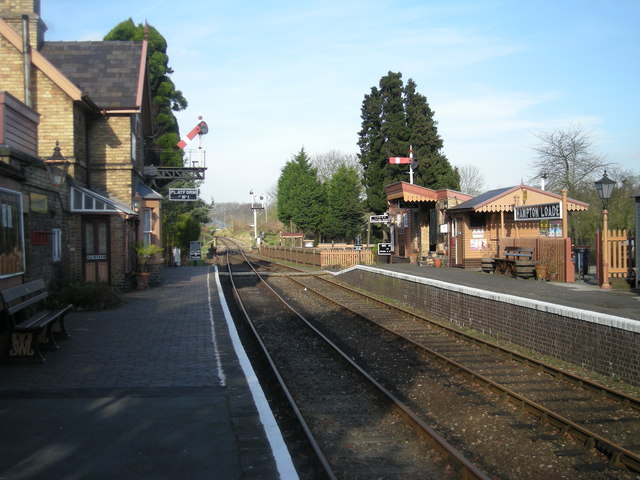 Hampton Loade SVR Station looking north
