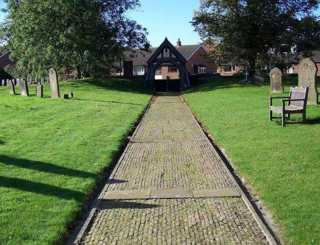 Path to the Lych Gate, St Hilda's Church