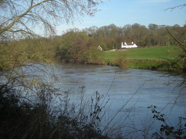 Pub across the River Severn