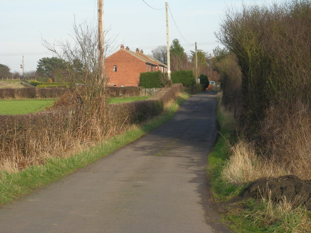 Driveway to houses at Lower Forge