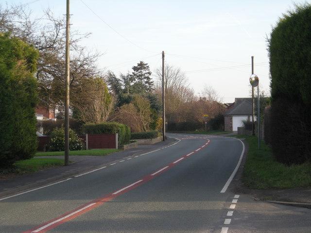 B4555 through Eardington