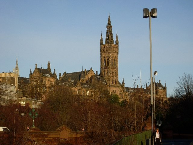 Glasgow University Old building from Bunhouse Road
