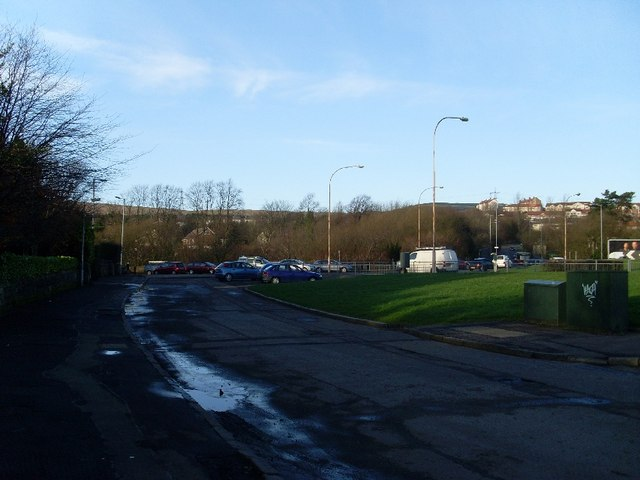 Road by Hardgate roundabout