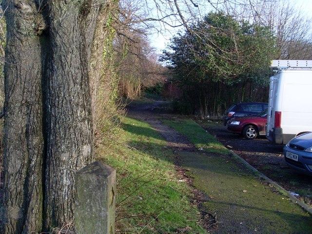 Path behind Goldenhill Bar