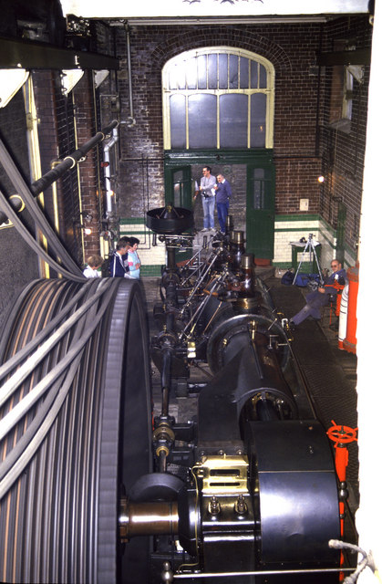 Mill engine at full chat.