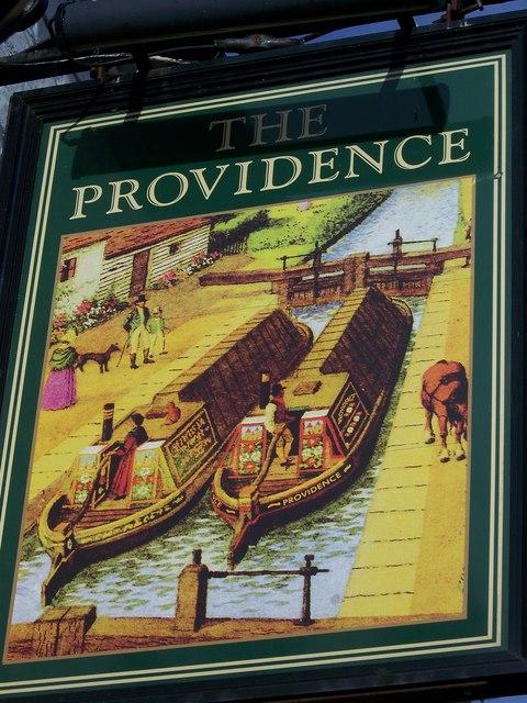 Sign for the Providence, Yedingham