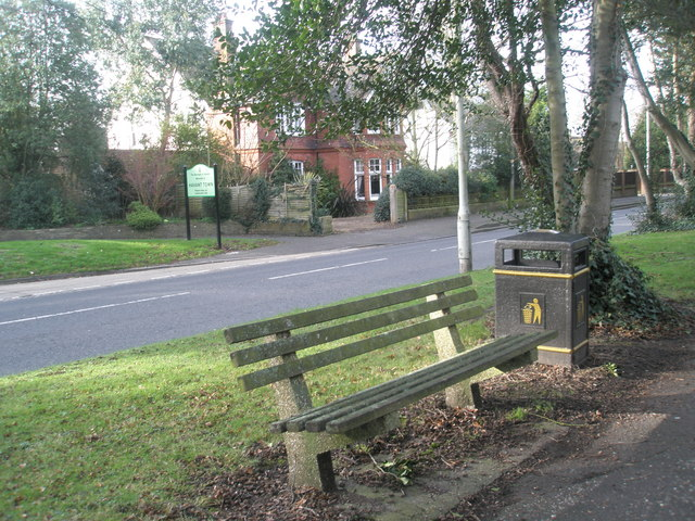 Bench near Town Boundary