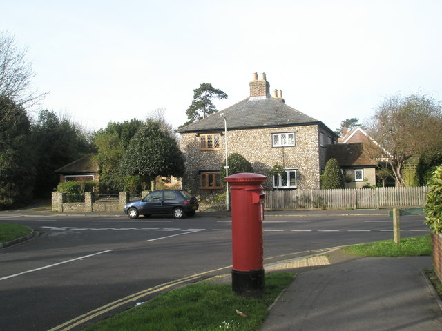 Postbox  on corner of Luard Court and Pook Lane