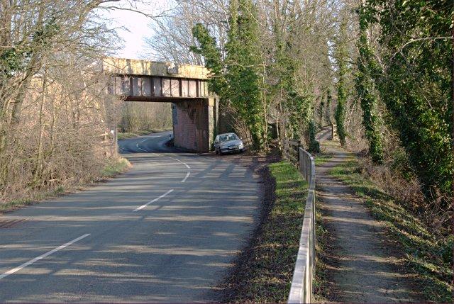 Railway bridge over the Weston road