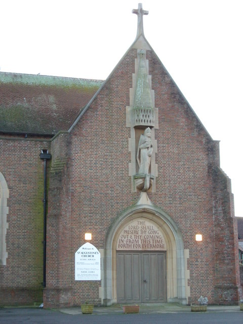 Frontage to St Augustine's Church, Bexhill-on-Sea