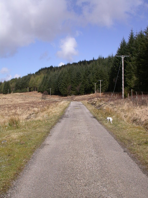 Road North of Loch Doire nam Mart