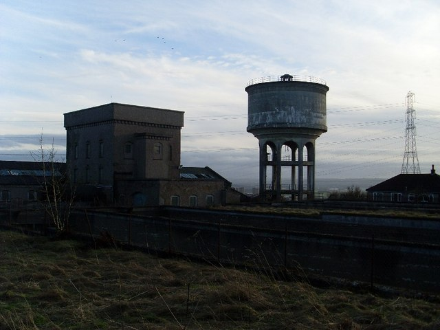 Tower of disused Cochno Waterworks