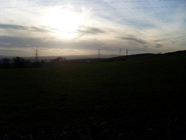 Dusk view over Kilpatrick Hills