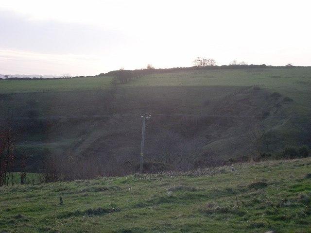 Corrie in hill by Loch Humphrey Burn