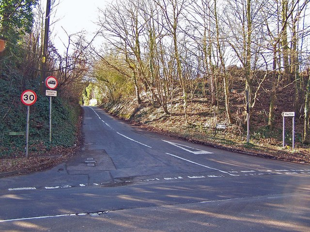 Junction of Mill Lane and Hartlip Hill