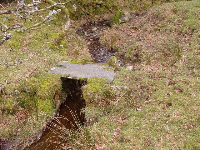 Old slate footbridge
