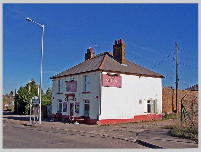 Three Sisters public house, Otterham Quay Lane