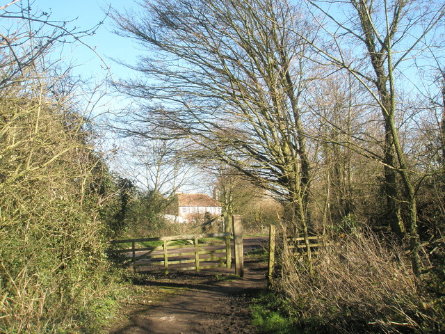 Looking from gateway towards The Old Rectory