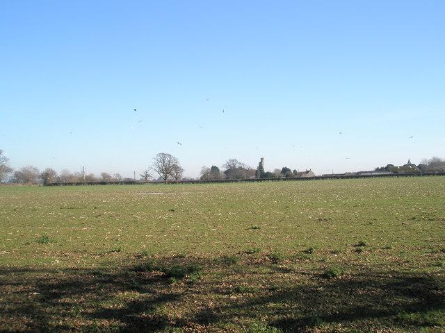 Looking across the fields to Warblington Castle