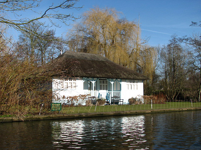 One of the attractive houses on the banks of the River Bure