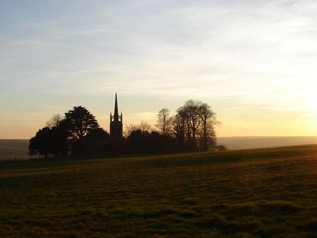 Evening Falls on All Saints' Church,  Haugham
