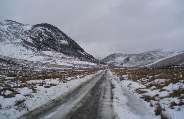 The road up Glen Isla