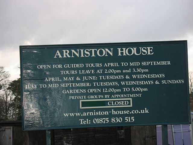 Arniston House opening times