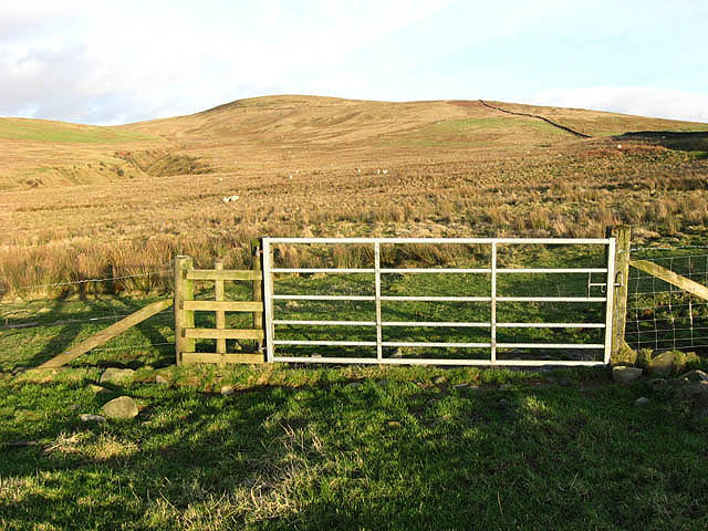A gate on Broom Hill