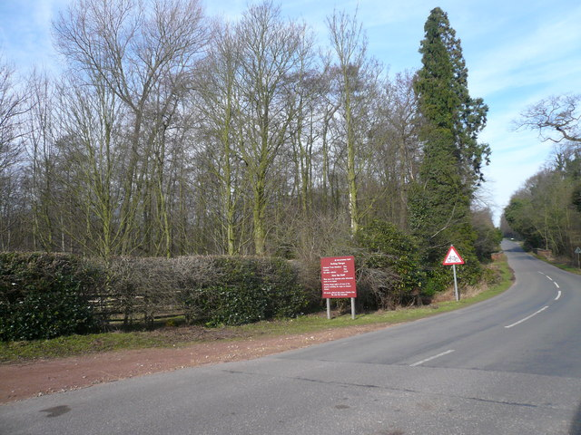 Entering Clumber Park at Carburton Entrance