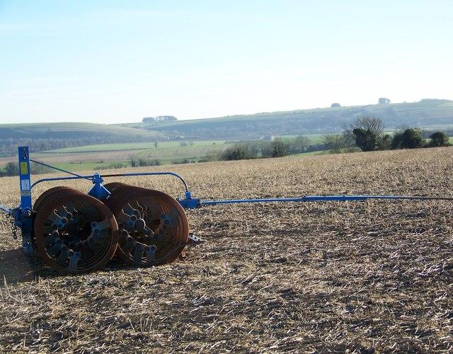 Farm machine on Fifield Down