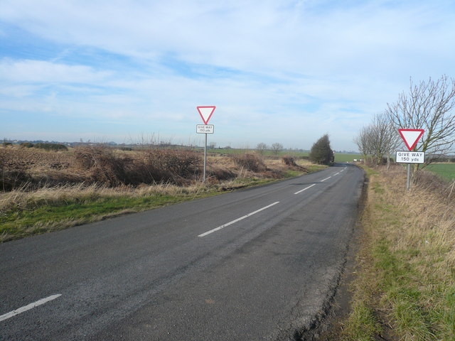 Fox Hill  - View towards junction with Moor Lane (A632)