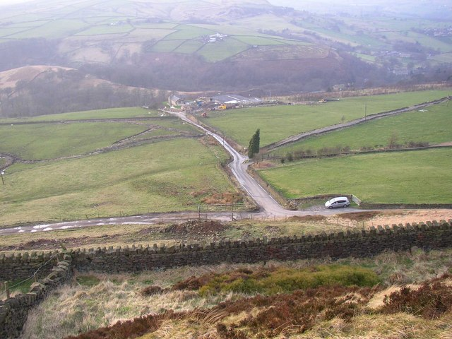View of Withens End Lane, Rishworth