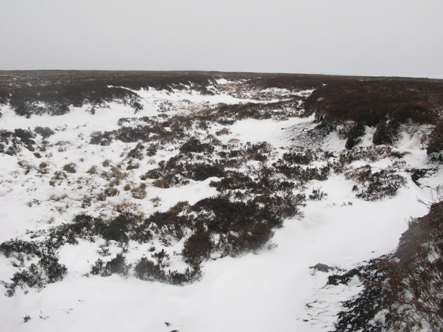 Frozen peat haggs on Wolfcleugh Common