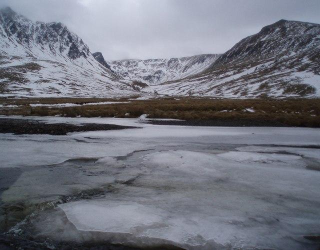 Ice breaking free on the River Isla
