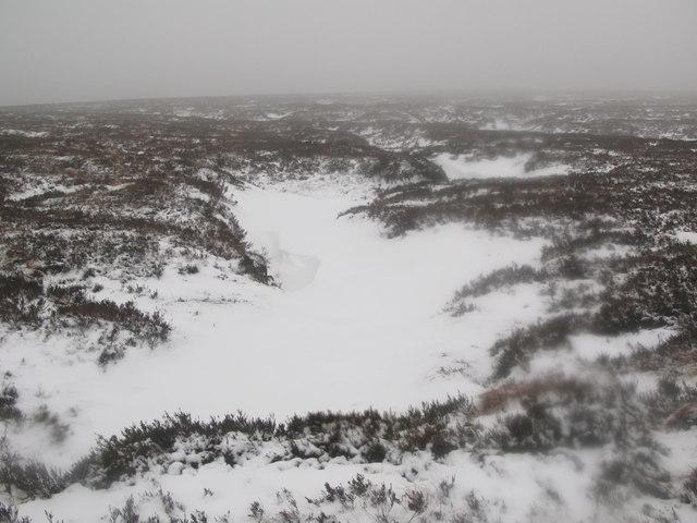 More frozen peat haggs on Middlehope Moor