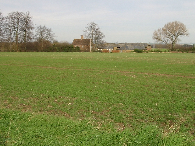 View across the field to Hay Farm