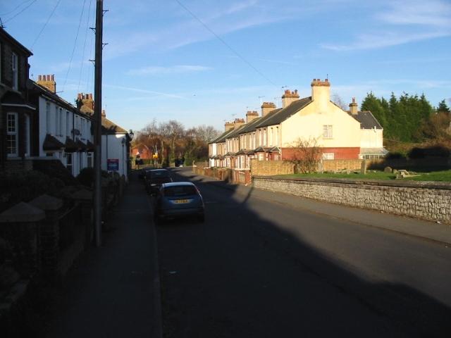 View along Sandwich Road