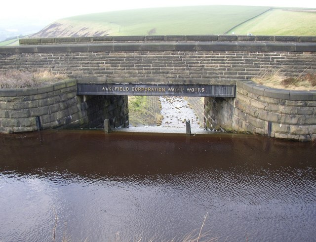 Overflow from the catchwater channel, Rishworth