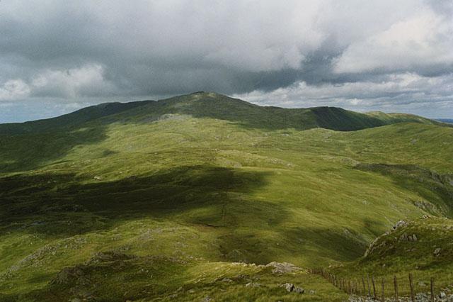 Northwest slopes of Glasgwm