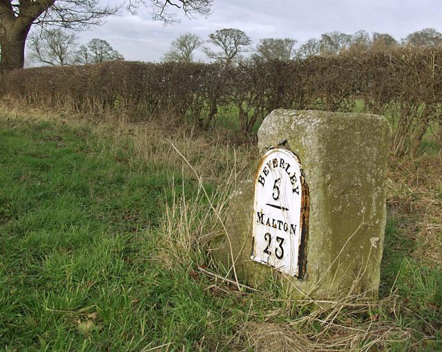 Milestone near South Dalton