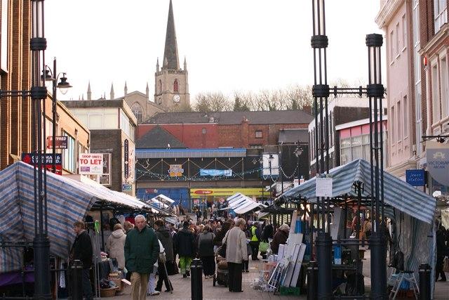 Walsall Market & St Matthew's Church