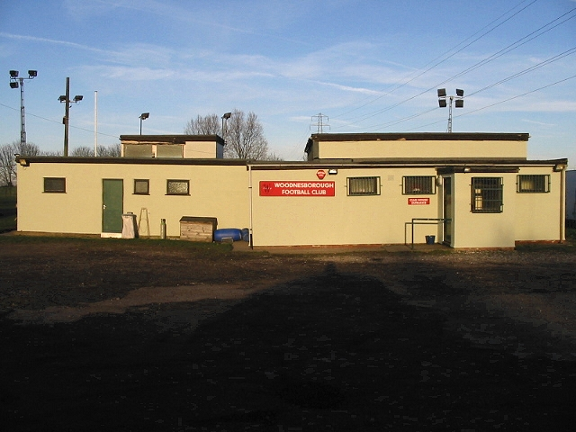 The clubhouse at Woodnesborough football ground